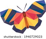 butterfly symbol  polygon  on a ... | Shutterstock .eps vector #1940729023