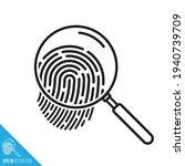 fingerprint under magnifying... | Shutterstock .eps vector #1940739709