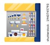 hardware shop interior design... | Shutterstock .eps vector #1940745793