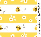 seamless pattern with bee...   Shutterstock .eps vector #1940750833