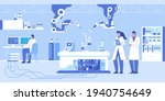 science laboratory interior... | Shutterstock .eps vector #1940754649