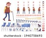 old man construction set.... | Shutterstock .eps vector #1940758693