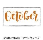hand written text october.... | Shutterstock .eps vector #1940759719