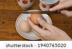 Raw Organic Egg With Brown...