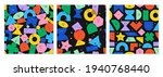 set of seamless pattern with... | Shutterstock .eps vector #1940768440