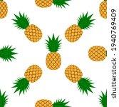 pineapple  leaf seamless... | Shutterstock .eps vector #1940769409