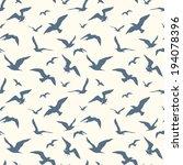 Seagulls Seamless Pattern