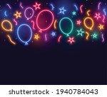 ballons stars and confetti...   Shutterstock .eps vector #1940784043