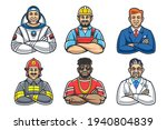 cartoon style smiling men with...   Shutterstock .eps vector #1940804839