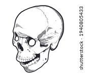 engraving style skull with open ...   Shutterstock .eps vector #1940805433