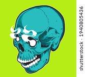 pop art style skull with...   Shutterstock .eps vector #1940805436
