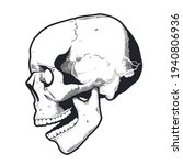 engraving style skull with open ...   Shutterstock .eps vector #1940806936