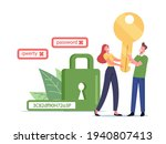 data protection concept. tiny...   Shutterstock .eps vector #1940807413