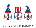 patriotic gnome set with usa...   Shutterstock .eps vector #1940820193