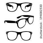 set of glasses vector    Shutterstock .eps vector #194082530