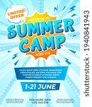 summer camp poster. child... | Shutterstock .eps vector #1940841943