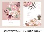 vector exotic dry flower  palm... | Shutterstock .eps vector #1940854069