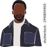black afro man with beard on... | Shutterstock .eps vector #1940854903