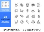 line icons about summer tourism....   Shutterstock .eps vector #1940859490