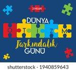 april 2 world autism awareness... | Shutterstock .eps vector #1940859643