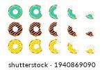donut dessert. doughnut bite.... | Shutterstock .eps vector #1940869090