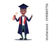 graduate afro american boy... | Shutterstock .eps vector #1940869756