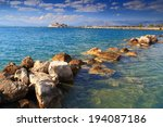 ioanian sea surrounding distant ... | Shutterstock . vector #194087186