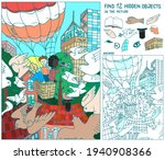 find  hidden objects. people... | Shutterstock .eps vector #1940908366