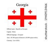 georgia national flag  country...   Shutterstock .eps vector #1940913466