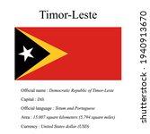 timor leste national flag ...   Shutterstock .eps vector #1940913670