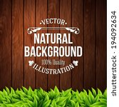 natural background with wooden... | Shutterstock .eps vector #194092634