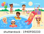 pool party kids. children play...   Shutterstock .eps vector #1940930233