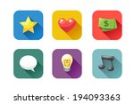 set of icons in flat design...