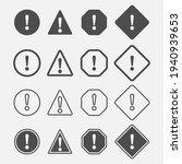 danger simple icon set. caution ...   Shutterstock .eps vector #1940939653
