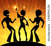 illustration with dancing... | Shutterstock .eps vector #194094134