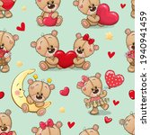 seamless pattern with cute... | Shutterstock .eps vector #1940941459