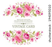 luxurious vintage card of color ... | Shutterstock .eps vector #194095010