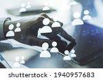 social network media concept...