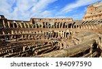roman colosseum  italy          ...   Shutterstock . vector #194097590