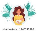 woman with baby. motherhood ...   Shutterstock .eps vector #1940995186