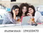 group of happy students... | Shutterstock . vector #194103470