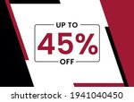 up to 45  off banner  upto 45 ... | Shutterstock .eps vector #1941040450