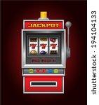 red slot machine   Shutterstock .eps vector #194104133