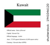 kuwait national flag  country's ...   Shutterstock .eps vector #1941046120