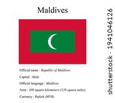 maldives national flag  country'...   Shutterstock .eps vector #1941046126