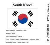 south korea national flag ...   Shutterstock .eps vector #1941046129