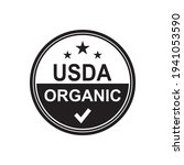 Usda organic vector icon logo design