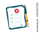 medical clipboard with... | Shutterstock .eps vector #1941057250