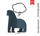 cute cartoon gorilla with...