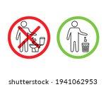 do not litter in the toilet....   Shutterstock .eps vector #1941062953